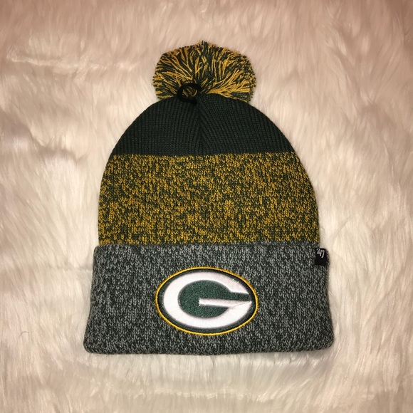 Mens Green Bay Packers Green and Yellow Sock Hat 045fdff6291
